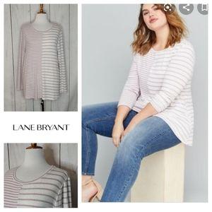 Lane Bryant Striped long sleeve pullover